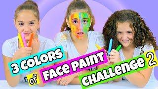 3 Colors of Face Paint Challenge Part 2!