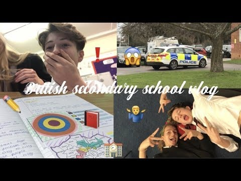 a day in the life of BRITISH SECONDARY SCHOOL | vlogmas