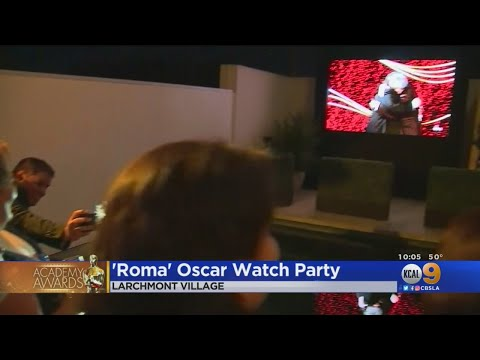 'Roma' Viewing Party Celebrates Movie's 3 Oscars, Domestic Workers
