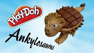 learn how to make ankylosaurus dinosaur for kids using modelling clay play doh