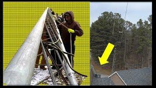 Diy ham radio tower video clip