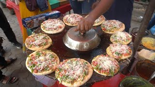 VEG CHEES PIZZA: Very Famous Spicy Veg Cheese Pizza of Mumbai | Indian Street Food
