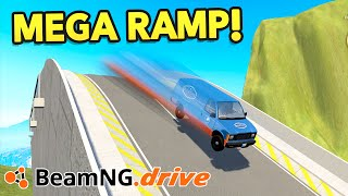 BeamNG Drive Creations : BIGGEST RAMP!! (BeamNG Drive Crashes)
