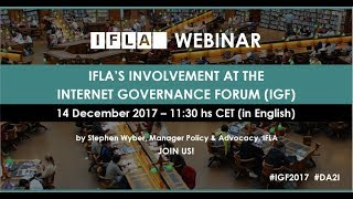 IFLA at the Internet Governance Forum thumbnail