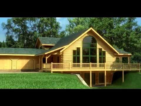 Casas De Madera Maciza Modelo Keystone En 3d Youtube