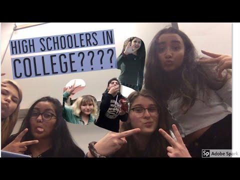 A WEEK IN THE LIVES OF HIGH SCHOOLERS IN COLLEGE (school vlog)