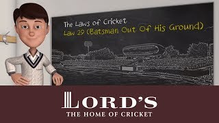 The Laws of Cricket with Stephen Fry | Batsman out of his ground