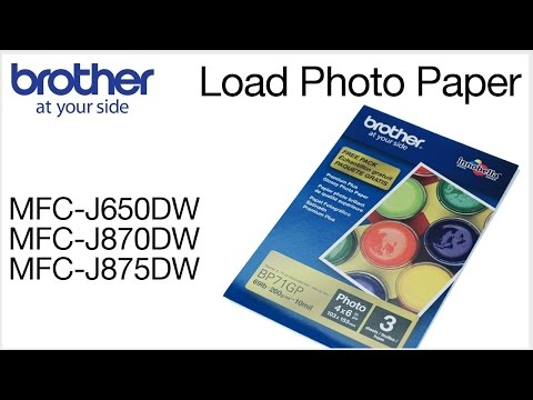 Loading Photo Paper Into The Brother MFCJ870DW