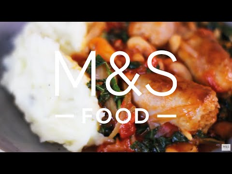 Chris' saucy sausage and beans with mega creamy mash | M&S FOOD
