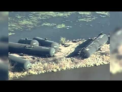 Wisc. Train Derailment Prompts Evacuation - Raw Video
