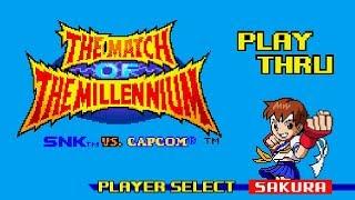 SNK vs. Capcom: Match of the Millennium - Sakura Playthrough
