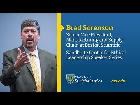 Sandbulte Center for Ethical Leadership Speaker Series: Brad Sorenson