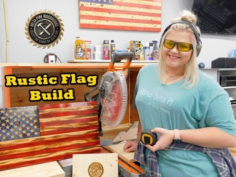 How to Build a Custom Rustic Wood Flag - Fire Torched - CNC Engraved