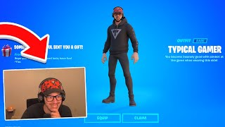 Surprising YOUTUBERS with their *OWN* Skin in Fortnite!