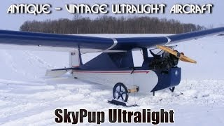 Skypup Antique Ultralight, Part 103 Legal Ultralight Aircraft.