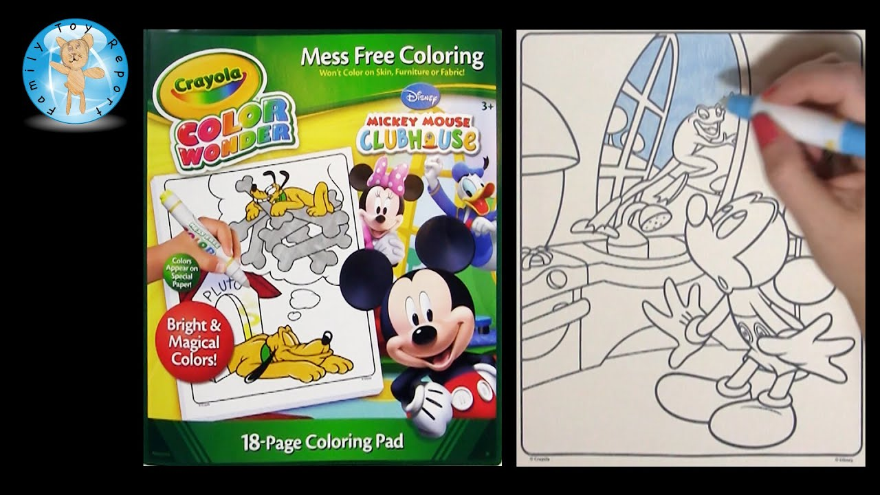 Crayola Color Wonder Mickey Mouse Clubhouse Coloring Book Frog ...