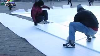 Открылся каток на площади Виенибас(Вечером 16 декабря на площади Виенибас состоялась официальная церемония открытия первого в Даугавпилсе..., 2014-12-18T13:55:05.000Z)