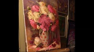 Пионы в вазе. Урок живописи. Part 1.(Приглашаю на свои мастер-классы в Москве: http://www.buiko.ru/#!blank-5/hk7e2 Почта 126801@gmail.com Тел. +79104967233 Вконтакте- http://m.vk...., 2014-08-18T16:06:19.000Z)
