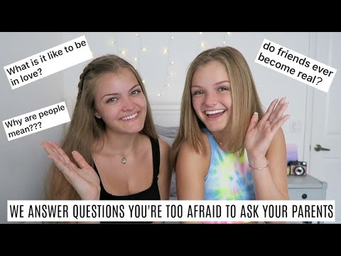 We Answer Questions You Are Too Afraid To Ask Your Parents ~ Jacy And Kacy