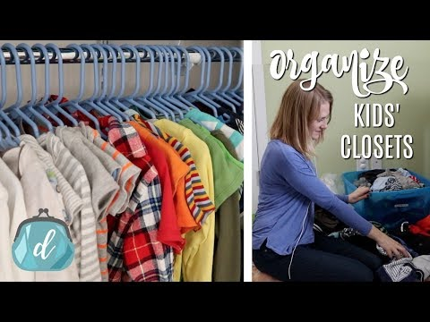 Tricks to ORGANIZE and MAINTAIN kids' closets (easy system as they grow!)