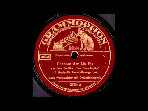 Chanson der Lia Pia / Vicky Werkmeister mit Orchester