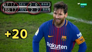 +20 Last Minute Clutch Messi Goals - With Commentaries