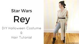 DIY Rey Halloween Costume (Star Wars) and Hair Tutorial