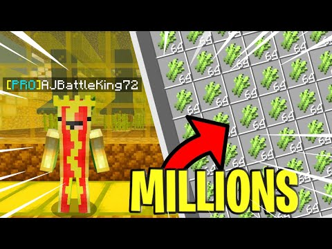 AUTO SUGARCANE FARMS ARE OP (Lifeboat Skyblock MCPE)(EP:10)