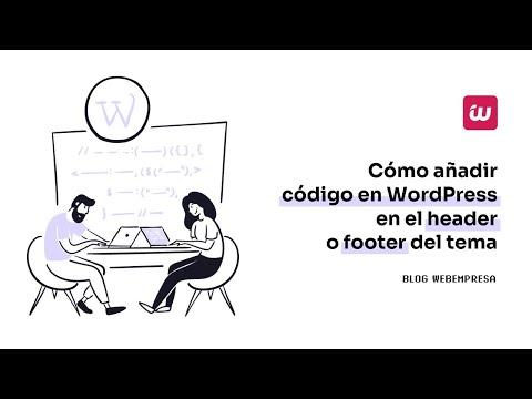 Añade código a WordPress en el header o footer del tema - YouTube