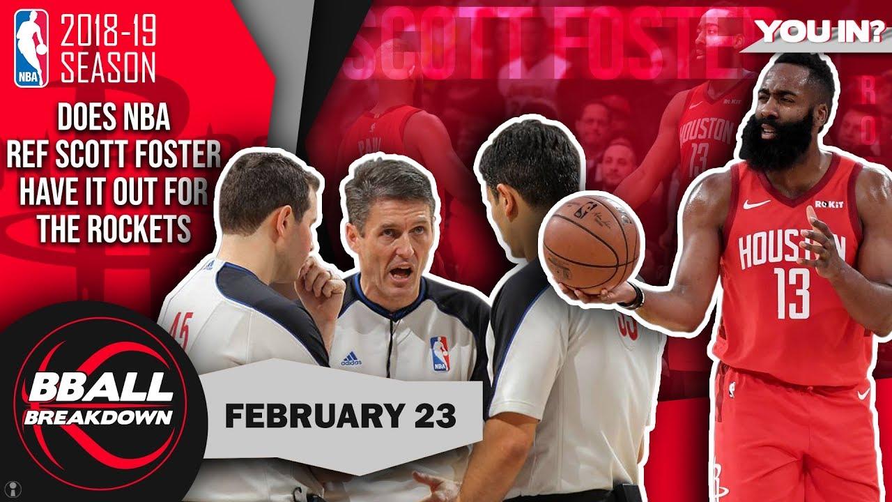 Is NBA Ref Scott Foster Biased Against