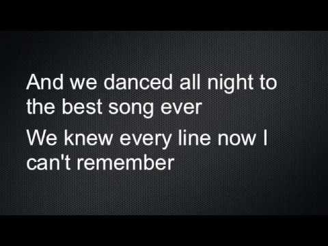 Best Song Ever Lyrics One Direction