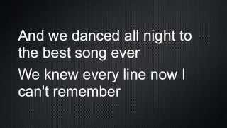 Best Song Ever Lyrics- One Direction