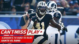 Alvin Kamara Breaks Off a 74-Yd TD Run vs. LA! | Can't-Miss Play | NFL Wk 12 Highlights