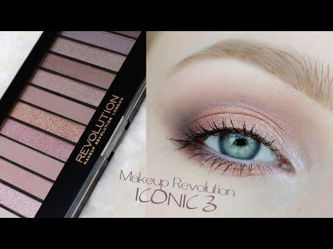 makijaż delikatny / dzienny / ślubny /  ** Makeup Revolution ICONIC 3 ** makeup tutorial