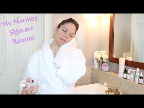 My Morning Skincare Routine for dry, acne prone, PREGNANT skin! The Ordinary for pregnant skin!