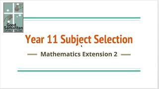 Mathematics Extension 2