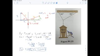 How to Solve Tenṡion in Three Cables - Hanging Mass with Unequal Angles (Hard)