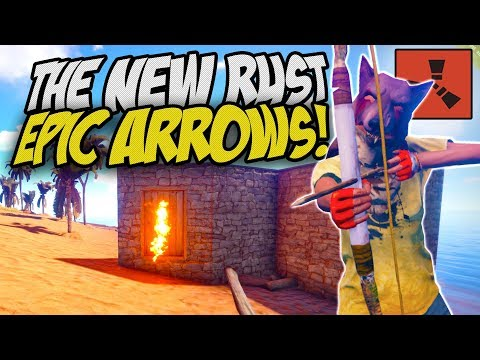 FIGHTING WITH THE NEW RUST ARROWS! - Rust Solo Survival Gameplay