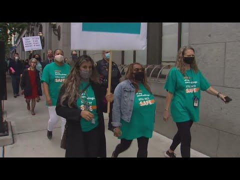 'Enough is enough': King County Courthouse workers rally over safety concerns