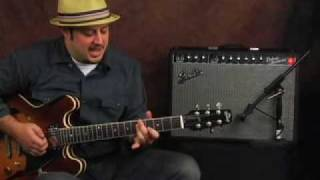 Amplifier gear demo Fender Deluxe Reverb tube amp