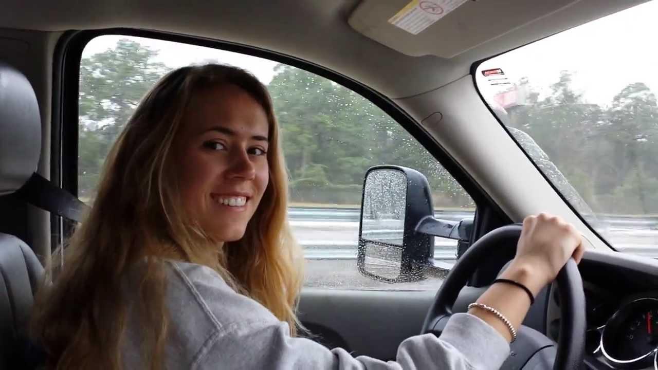 Pretty Girl Driving a Dump Truck YouTube