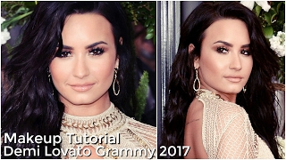 Demi Lovato Makeup Tutorial | Grammy 2017