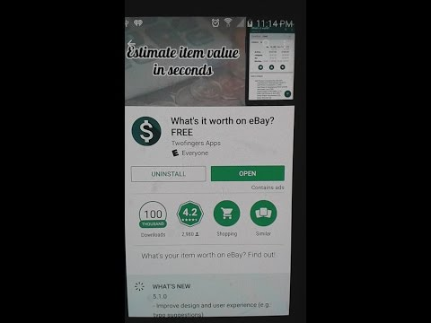 Super Cool Ebay App Called Whats It Worth