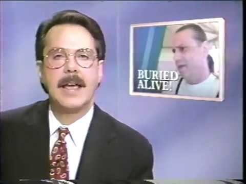 Bill Shirk is buried alive. The October, 1993 report was done by Tom Cochrun.