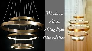 Diy Ring Chandelier |Inexpensive Modern Home Decor Request from an Instagram follower