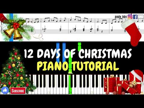 12 Days of Christmas   EASY Piano Tutorial  Sheet Music