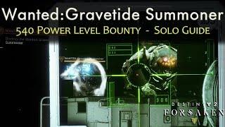 Wanted Bounty: Gravetide Summoner - Spider Bounty - Powerful Gear