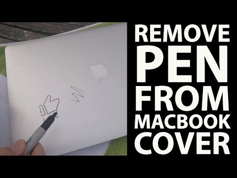 Macbook Pro How to remove marker pen ballpoint biro or permanent ink from Aluminum Cover