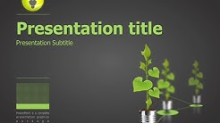 green energy animated ppt template