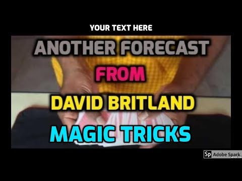 🔔MAGIC VIDEO TAMIL I💥MAGIC TRICK TAMIL #509 I ANOTHER FORECAST from DAVID BRITLAND